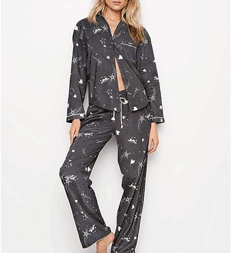 ZLL Costume De Pyjama Et De Pantalon à Manches Longues en Coton Classique