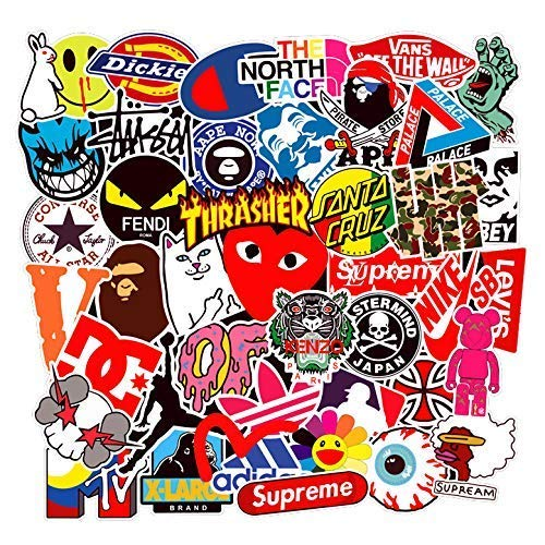 Supreme Trend Sticker Decals (101 stuks), Laptop Vinyl Sticker voor waterfles, drinkfles, snowboard, bagage, motorfiets, iPhone, MacBook, wand, DIY Party Supplies Patches Decal