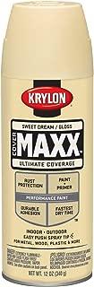 Krylon K09143007 COVERMAXX Spray Paint, Gloss Sweet Cream, 12 Ounce
