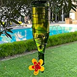 Kits Turn Your own Recycled Bottles into The Best Hummingbird Feeder,Wine botle Hummingbird Feeder-Plastic,Wine Bottle Bird Feeder Attachment,Hummingbird Feeder DIY Kit Great Ideas Gift (Yellow)