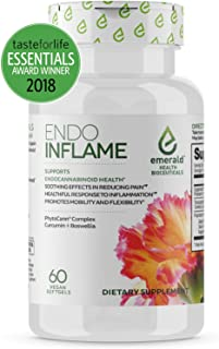 Endo Inflame - Natural Pain and Inflammation Relief - Natural Herbal Endocannabinoid Support for Pain and Inflammation - 60 Gel Caps