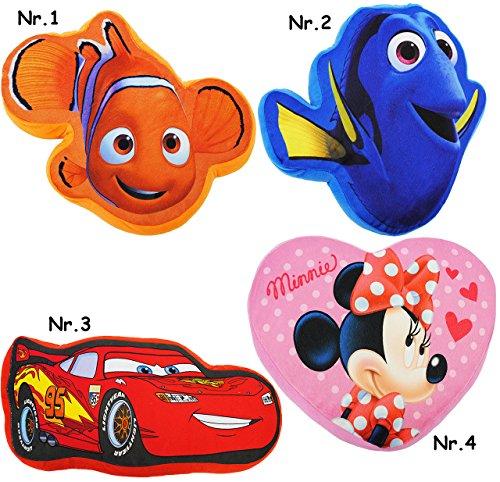 alles-meine.de GmbH Plüsch Schmusekissen / Sitzkissen / Kissen -  Disney Cars - Lightning McQueen  _ Kuschelkissen - 40 cm * 22 cm - Figur sehr weich - Form - groß - für Jungen..