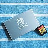 DERCLIVE Nintendo Switch Caja de Almacenamiento de Cartucho de Tarjeta de Juego de Metal de Aluminio de 6 Ranuras Plata