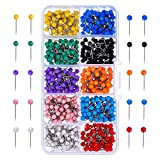 TOOGOO Map Tacks Push Pins Cabezal de plastico con punta de acero, 4 mm, 500 piezas...