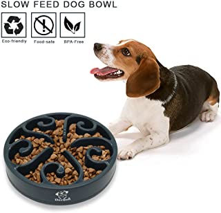Decyam Pet Fun Feeder Dog Bowl Slow Feeder, Slow Eating Dog Bowl Interactive Bloat Stop Dog Bowl, Eco-Friendly Non Toxic Slow Feed Dog Bowl for Medium Small Dogs