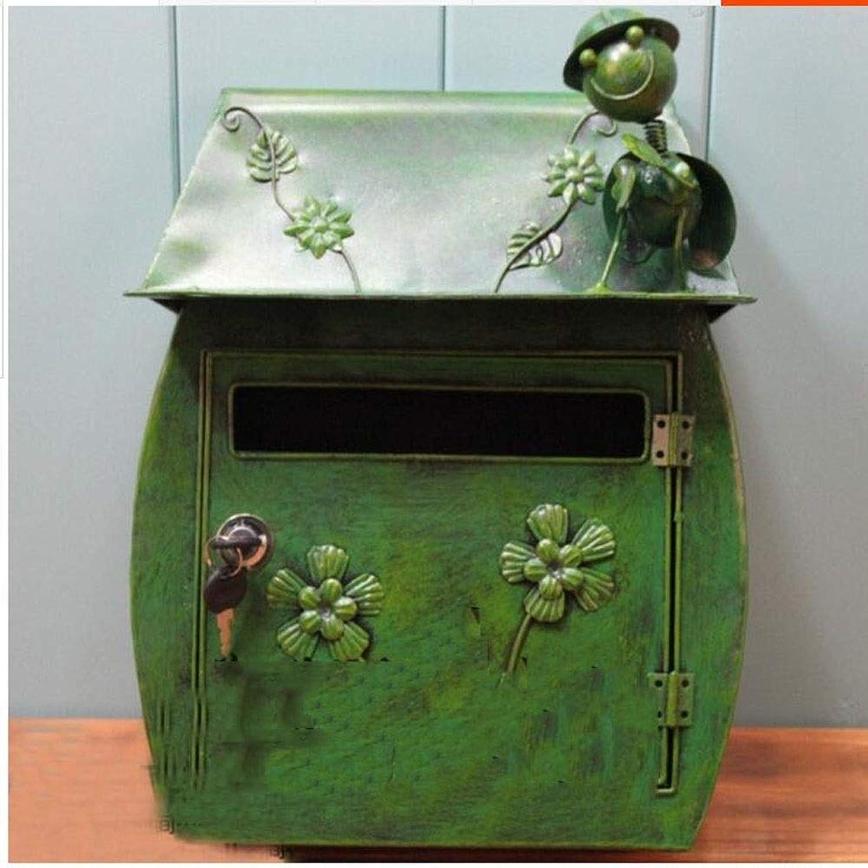 SHYPwM ロック付きメールボックスガーデンレターボックスデコレーション候補ボックスアウトドアポストボックスクリエイティブインボックス