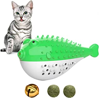 Sponsored Ad - Catnip Toys for Cats,Interactive Cat Toothbrush Chew Treat Toy for Kitty ,Teeth Cleaning Dental Care,Fish S...