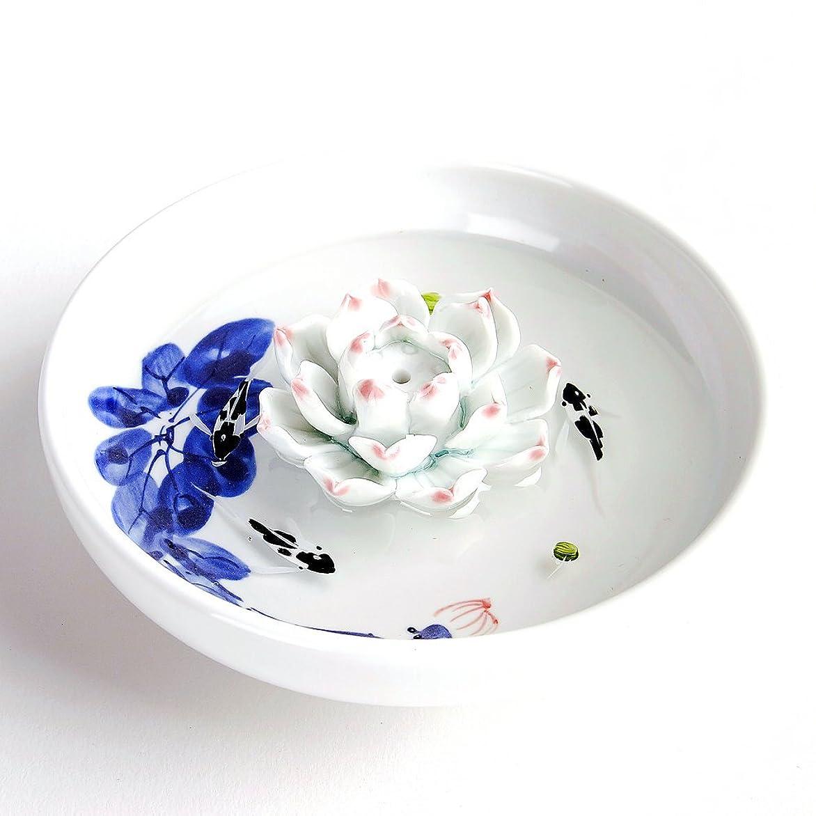 美的影響力のあるジョセフバンクスお香立て お香たて 香の器 お香を焚いて 香皿,陶磁器、白