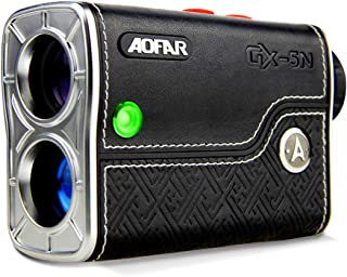 AOFAR GX-5N Golf Rangefinder with Slope On/Off Indicator, Flag-Lock Vibration, 800 Yards with Hi-Precision Measuring 6X Magnification, Waterproof, Battery, Full Package