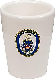 Express It Best Shot Glass -US Navy USS Decatur (DDG 73), destroyer emblem (crest)