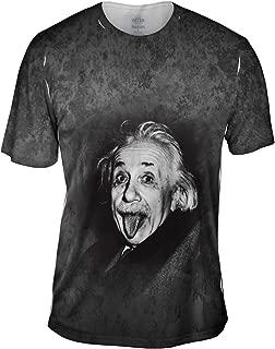 Albert Einstein Sticks Out His Tongue -Tshirt- Mens Shirt