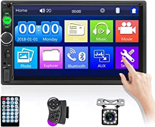 7 Inch Double Din Car Stereo 7'' HD Touch Screen Car Radio Digital Display Multimedia MP5 Player Support Bluetooth USB AUX... photo