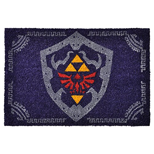 Legend of Zelda The Hylian Shield - Felpudo (60 x 40 cm, fibra de coco y PVC)