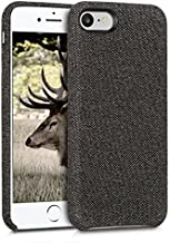 kwmobile Case Compatible with Apple iPhone 7/8 / SE (2020) - Case TPU and Fabric Smartphone Phone Cover in Canvas