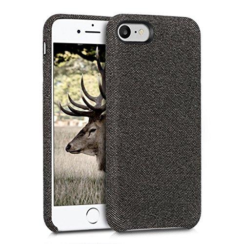 kwmobile Hülle kompatibel mit Apple iPhone 7/8 / SE (2020) - Stoff Case Handy Schutzhülle - Backcover Cover Dunkelgrau