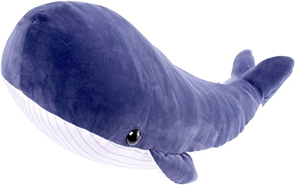 LALA HOME Large Blue Whale Stuffed Animal Giant Hugging Soft Pillow Toy 23 6 Innch 60 Centimeter