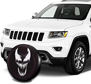 HARLEY MARTIN Spare Tire Cover,Venom Dark Waterproof Dust-Proof Universal Spare Wheel Tire Cover for Jeep Wrangler Sahara,Hummer H3,Toyota FJ