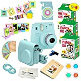 Fujifilm Instax Mini 9 Instant Camera ICE Blue w/Fujifilm Instax Mini 9 Instant Films (60 Pack) + A14 Pc...
