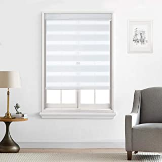 Everyday Celebration Zebra Horizontal Shades Cordless Blinds for Window,Roller Dual Layer Free Stop Light Filtering Cordless Celestial Sheer 34