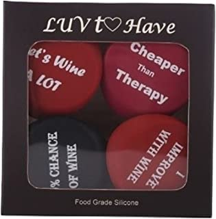 Silicone Wine Stoppers - Funny Wine Stoppers Set of 4 These Silicone Wine Stoppers are Airtight and preserves your wine for weeks to come Eco Friendly Wine Stopper Set is for the Wine Enthusiast
