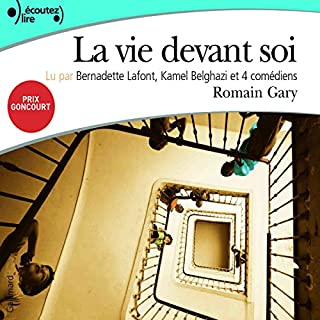 La vie devant soi                   Written by:                                                                                                                                 Romain Gary                               Narrated by:                                                                                                                                 Bernadette Lafont,                                                                                        Kamel Belghazi,                                                                                        André Oumanski,                   and others                 Length: 4 hrs and 56 mins     25 ratings     Overall 3.8
