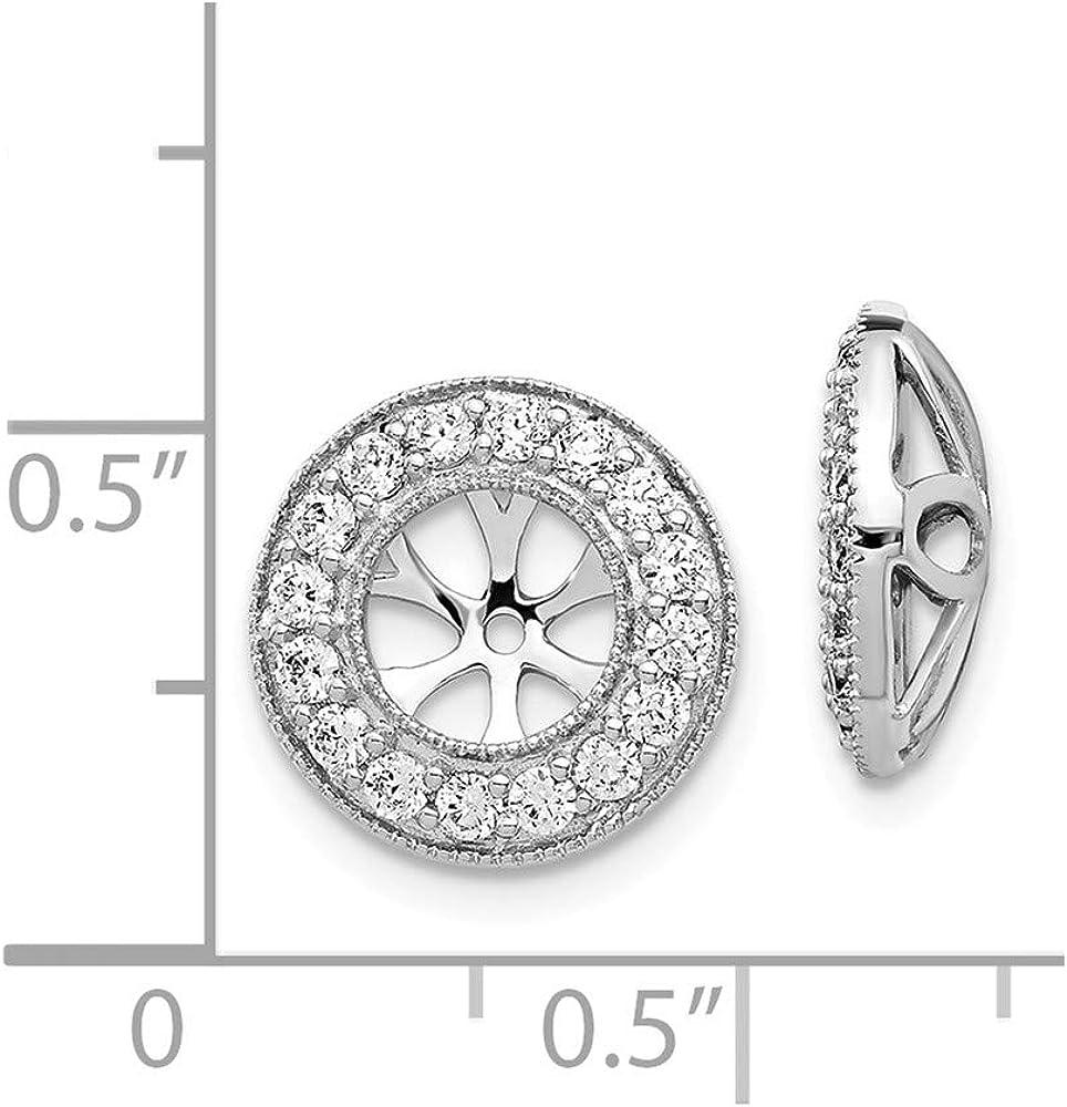 Jewels By Lux 14k White Gold Diamond Earring Jackets