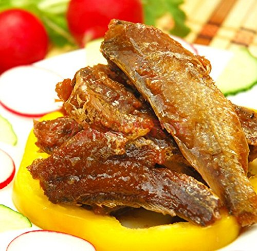 缶詰黄色のニベ科の魚24缶総正味重量2880 g(120gX24缶)、南シナ海南海から魚介類