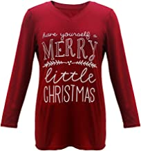 Women's Plus Size Halloween Christmas Letter Print It's Just a Bunch of Hocus Pocus Tee Funny Trendy T Shirt Tops Tee Blouse