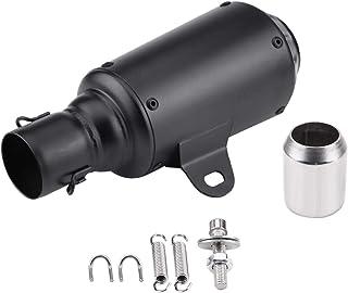 colore: nero Maso Silenziatore di scarico universale per moto 2 x 60 mm