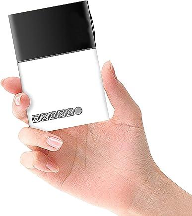 Mini Proyector, Proyector portátil LED para Home Entertainment Cinema con TV/AV/VGA/USB/HDMI Negro Negro
