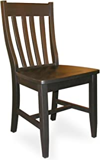 International Concepts C46-61P Pair of Schoolhouse Chairs Black