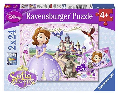 Ravensburger - 09086 - Puzzle Enfant Classique - Aventure Royale De Sofia - 2 X 24 Pièces