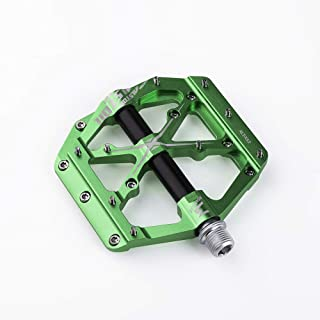 """MDEAN 3 Bearings Mountain Bike Pedals Platform Bicycle Flat Alloy Pedals 9/16"""" Pedals Non-Slip Alloy Flat Pedals"""