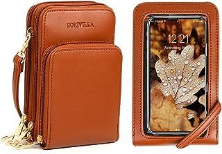 【2020 Aktualisierte Version】】 Crossbody Handy Geldbörse Frauen Touch Screen Tasche RFID blockierende Geldbörse Handtasche ...