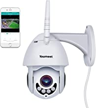 Outdoor Camera WiFi, Youmeet 1080P PTZ Camera, Motion/Sound Detection WiFi Security Camera,Two Way Audio WiFi Camera Outdoor,Night Vision Wireless IP Camera, Works on Smart Phones (SD Card Included)