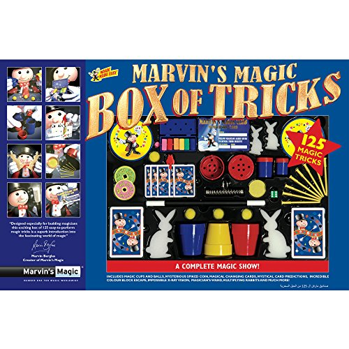 Marvin's Magic - Kids Magic Set - Box Of Tricks, 125 Amazing Magic Tricks For Kids | Includes Magic Wand, Card Tricks + Much More | Suitable For Age 6+