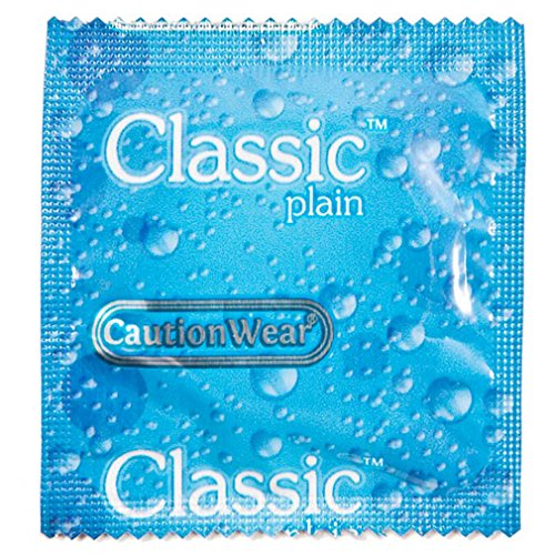 Caution Wear Classic Plain (Lubricated): 100-Pack of Condoms