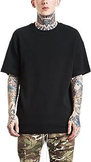 [ビヨンドユー] サーマル Tシャツ メンズ 無地 半袖 オーバーサイズ ロン丈 ビッグシルエット コットン