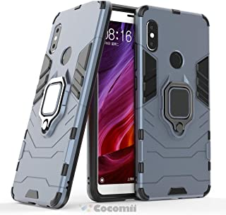Cocomii Black Panther Armor Xiaomi Redmi Note 5/Note 5 Pro Case New [Heavy Duty] Tactical Metal Ring Grip Kickstand [Works with Magnetic Car Mount] Cover for Xiaomi Redmi Note 5/Note 5 Pro (B.Black)