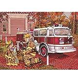 YDPTYANG Enfants Puzzles en Bois 1000 Pieces Héros De Fille De Camion De Pompiers De Dessin Animé Adultes Classique Créatif Jeu Art Jouet Puzzles