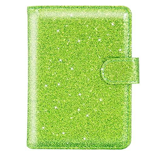 ACdream Reisepasshülle, Lederetui, RFID-blockierender Dokumenten-Organizer, mit Fächern für Kreditkarten, Bordkarte, für Damen und Herren – rosa glitzernd, glitter green, Classic