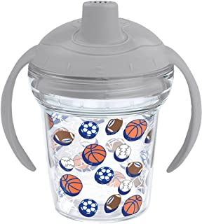 Tervis 1248428 Sports Balls Insulated Tumbler with Wrap and Moondust Gray Lid, 6oz My First Sippy Cup, Clear