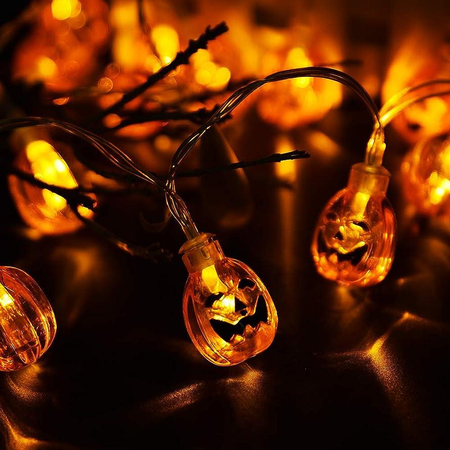 Halloween Pumpkin String Lights, HOMOR 3D Pumpkin 20 LEDs Battery Powered Halloween String Lights with Flashing Mode Fairy String Lights for Halloween Decoration Outdoor Home Garden (8.6ft Warm White)
