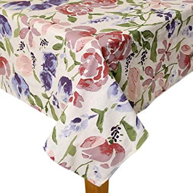 Bilberry Furnishing By Preeti Grover Cotton Fabric Tablecloth Dining Table Cover Rectangular (7.5 feet Long) for 6 to 8 Seate