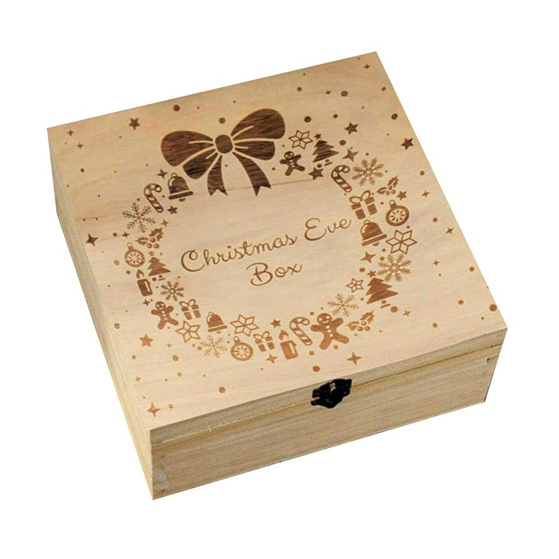 真珠のような確かめる電話に出るクリスマスイブボックス木製彫刻ギフトクリスマス子供ギフトクリスマスリーススノーフレークホームデコレーションガーランドワンサイズ