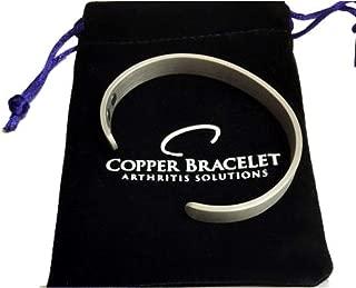 Pewter Copper Bracelet for Arthritis - Guaranteed 99.9% Pure Copper Magnetic Bracelet Men Women   6 Powerful Magnets   Effective Relief of Joint Pain, Arthritis, RSI, Carpal Tunnel. (Single Bracelet)
