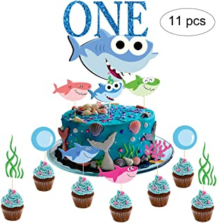 GmakCeder Shark TWO Birthday Cake Topper for Baby Shark Birthday Boy
