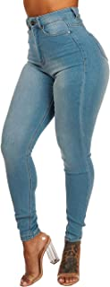 Ultra High Waisted Jeans for Women, Stretch Skinny Leg, Vintage Slimming Fit