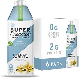 Kitu Super Creamer, Vegan Coffee Creamer (0g Sugar, 2g Protein, 15 Calories) [French Vanilla] 25.4 Fl Oz, 6 Pack   Keto Co...