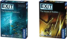 Exit: The Sunken Treasure   Exit: The Game - A Kosmos Game & Exit: The House of Riddles   Exit: The Game - A Kosmos Game from Thames & Kosmos   Family-Friendly